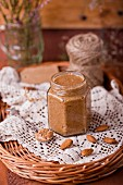 A jar of almond cream