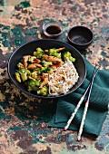 Spicy stir-fried chicken with broccoli