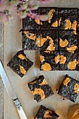 Millet brownies with peanut butter