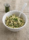 Insalata con Capunti alla cenere (Italian pasta salad)
