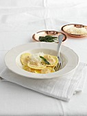 Tortelli di patate with sage and cheese