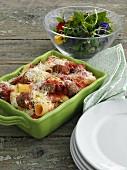 Rigatoni al forno (Italian pasta bake)