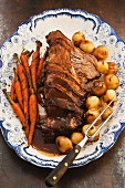Beer-braised beef with carrots and onions