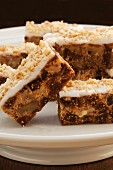 Homemade fig and walnut bars