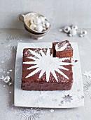 A Christmas Sacher-style cake