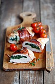 Stuffed chicken with spinach and ricotta