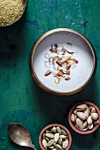 Coconut and mllet kheer with pistachios (India)