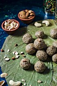 Millet ladoo with nuts (India)