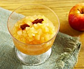 Apple compote with cinnamon
