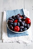 Red plums and damsons