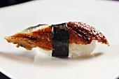 An unagi sushi: nigiri sushi with eel