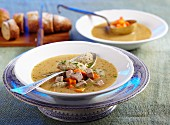 Old-fashioned Polish caraway soup with liver dumplings