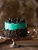 A chocolate Oreo cake