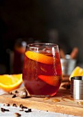 Negroni with roasted oranges and spices