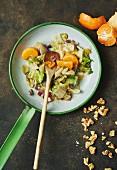 Chicory salad with mandarins and walnuts
