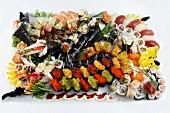 A lavish sushi platter