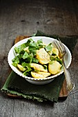 Potato salad with chicory