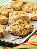 British caramel and currant scones