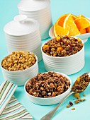 Various types of muesli