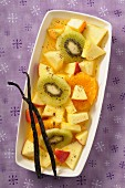 Exotic fruit salad with vanilla (Christmas)