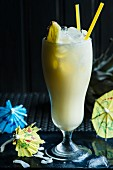 A Pina Colada made with rum and pineapple