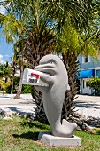 Mail box shaped like dolphin, Florida Panhandle, USA