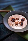 Chestnut soup with grilled chestnuts