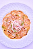 Fish carpaccio with salmon and monk fish