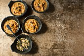 Carrot halva with raisins (India dessert)