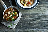 Parsnip curry with chickpeas and tomatoes