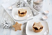 Small Christmas mushroom pies decorated with stars