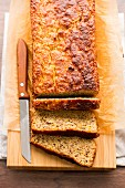 Low carb courgette and banana bread