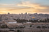 A view over the city with the golden Dome of the Rock, Jerusalem, Israel