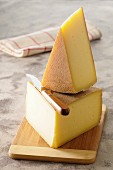Raclette cheese on a chopping board