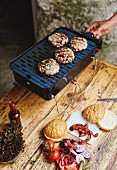 Grilled veal burgers