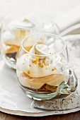 Coffee trifle with cream (Great Britain)