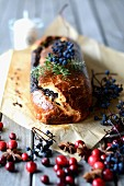 Poppyseed cake with berries