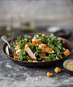 Caesar salad with kale