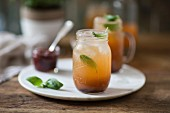 Melon cocktails with basil
