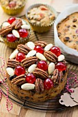 Mini Christmas cakes and Christmas muffins