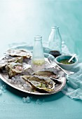 Oysters with three vinaigrettes