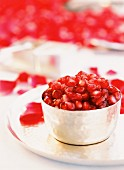 Yoghurt with pomegranate seeds