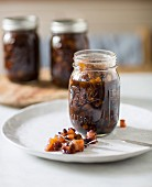 Dried fruit preserved in rum