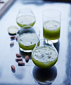 Cucumber drinks with roasted almonds