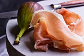 Air-dried Parma ham with a fresh fig