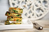 Small omelets with courgettes and spices