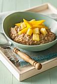 Porridge with mango and pineapple