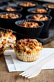 Savoury muffins with peppers and tuna fish
