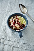 Muesli with coconut, cranberries, oats, almonds and puffed amaranth