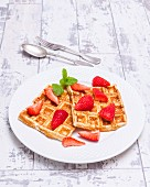 No carb waffles with strawberries